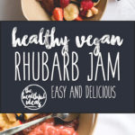 Rhubarb Jam - easy and delicious jam that happens to be good for you. Only 2 ingredients! I like to eat it with ice cream, oatmeal, or smoothies. Vegan, gluten-free, and processed sugar-free!   thehealthfulideas.com