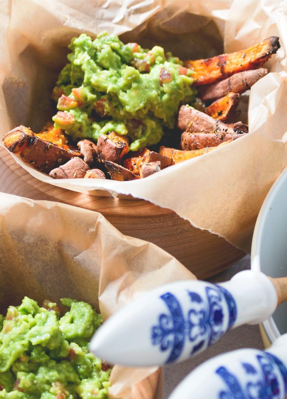 Sweet Potato Fries with Guacamole | The Healthful Ideas