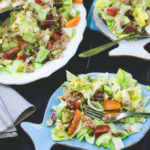 Colorful Salad with Tuna and Sundried Tomatoes - delicious easy every day summer lunch. A few ingredients include lettuce, cherry tomatoes, cucumber, avocado, and dressing. Great as packed lunch! | thehealthfulideas.com