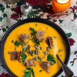 Vegan Creamy Roasted Butternut Squash Soup