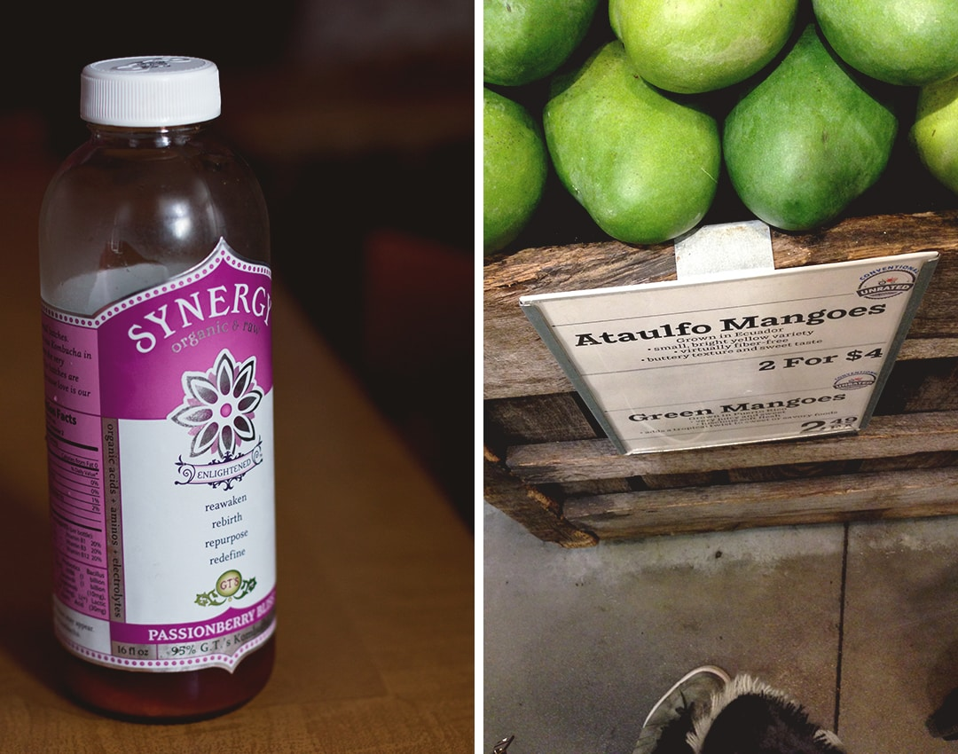 Where to Eat in New York: Whole Foods favorites - Kombucha, Ataulfo Mangos | thehealthfulideas.com