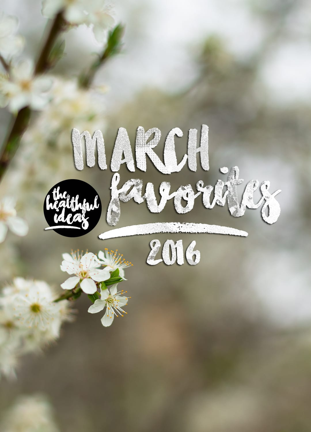 Monthly Favorites March 2016 by The Healthful Ideas | thehealthfulideas.com