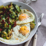 Sauteed-Pak-Choy-and-Brussels-Sprouts-with-Eggs