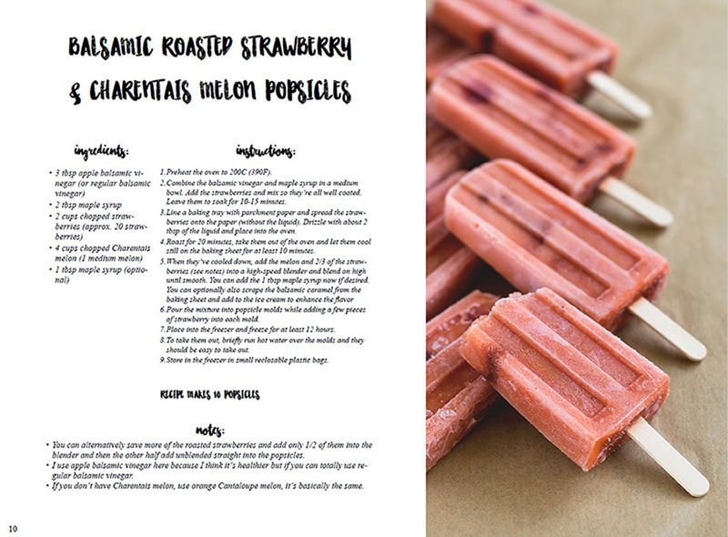 How to Make the Best Healthy Vegan Popsicles ebook - 16 delicious popsicle recipes plus 1 BONUS Raw Chocolate Sauce recipe! Easy, simple, sweet, and perfect for this summer! | thehealthfulideas.com