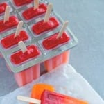 Orange Strawberry Sunrise Popsicles
