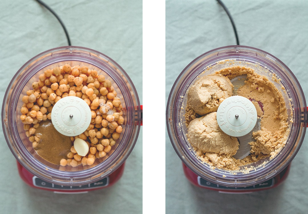 How to Make Hummus in 5 Minutes - it's incredibly easy! You'll totally love this recipe. It's thick, it's creamy, and you only need 4 ingredients! | thehealthfulideas.com