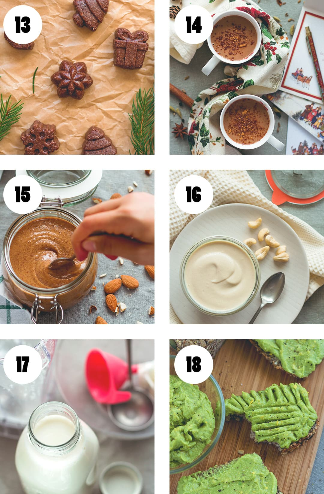 The Best Recipes of 2016 The Healthful Ideas - oatmeal, pancakes, hot chocolate, snacks, sweets, salads, pasta, spread, nut butter, almond milk, and more! You'll love everything! | thehealthfulideas.com
