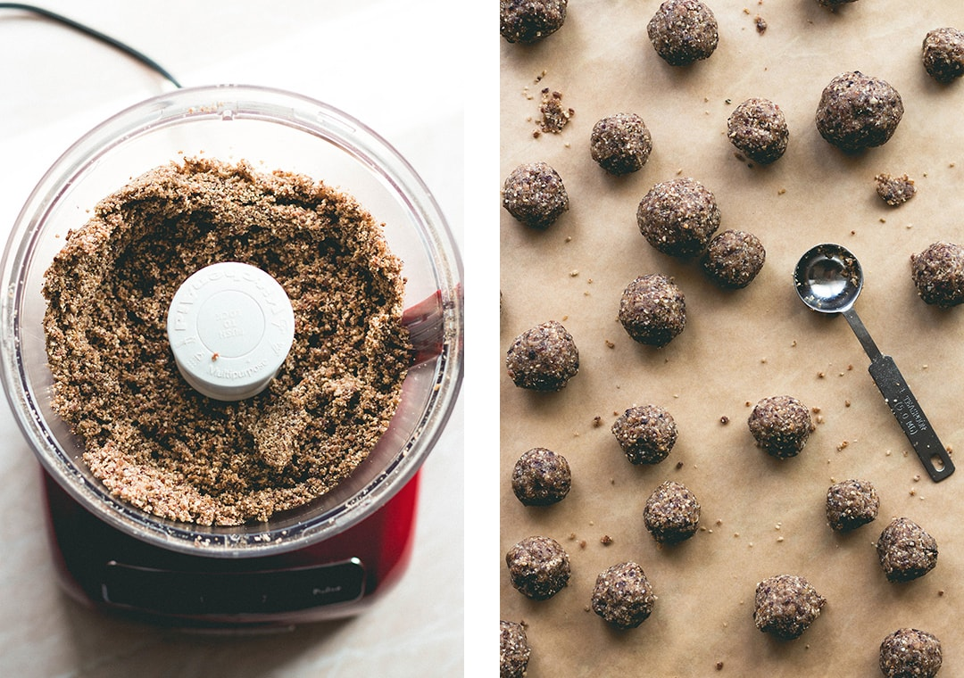 Cranberry Maca Baobab Energy Bites (raw vegan) - these energy balls are PACKED with superfoods and nutrients! Sweet, tangy, and delicious! | thehealthfulideas.com
