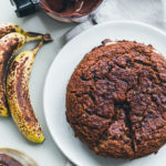 Apple Pie Cake with Chocolate Cashew Frosting - vegan, gluten-free, and oil-free! A delicious fall cake that is actually good for you. Packed with flavor, and also with superfoods!   thehealthfulideas.com