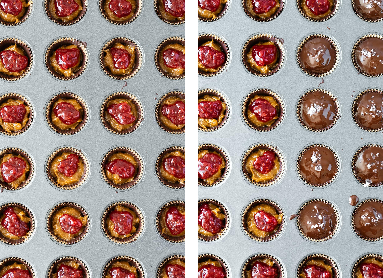 PB&J Chocolate cups (vegan, gluten-free, refined sugar free)