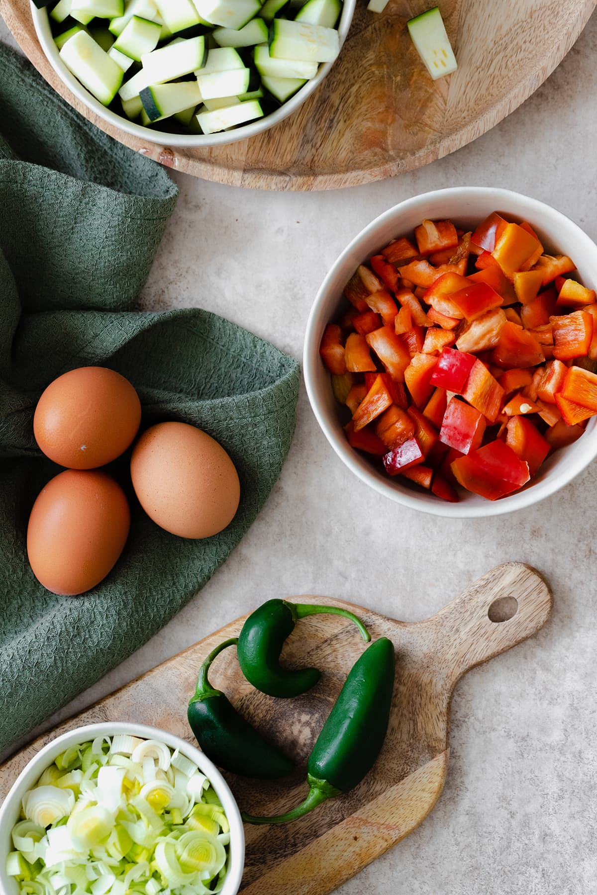 Bell Pepper and Zucchini Breakfast Skillet with Za'atar
